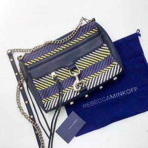 REBECCA MINKOFF Mac Weave Leather Crossbody/Clutch